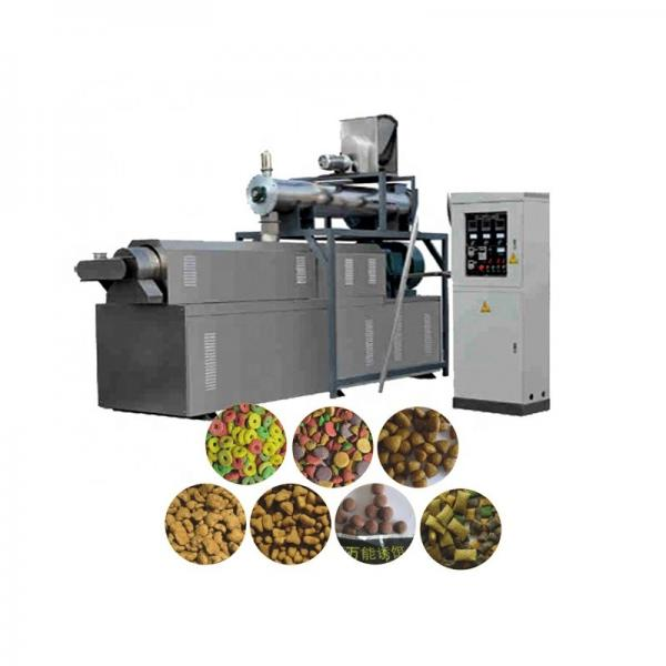 Energy Saving Dog Food Extruder Double Screw , Automatic Puffed Pet Food Extruder