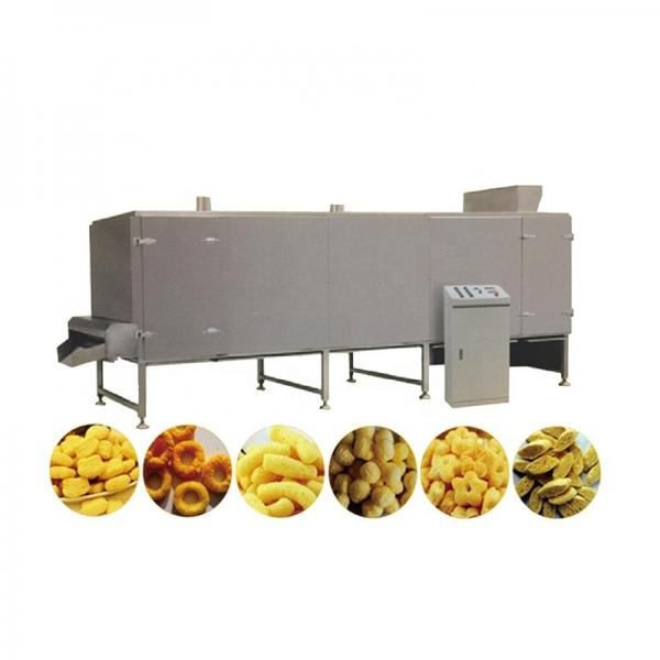 Automatic puffing food maize puffed rice corn puffs snack extruder machine