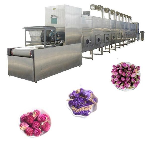 Rose flower microwave drying machine
