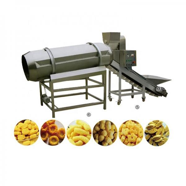 Crispy Corn Puff Snack Food Processing Machinery , Snack Food Extruder Machine